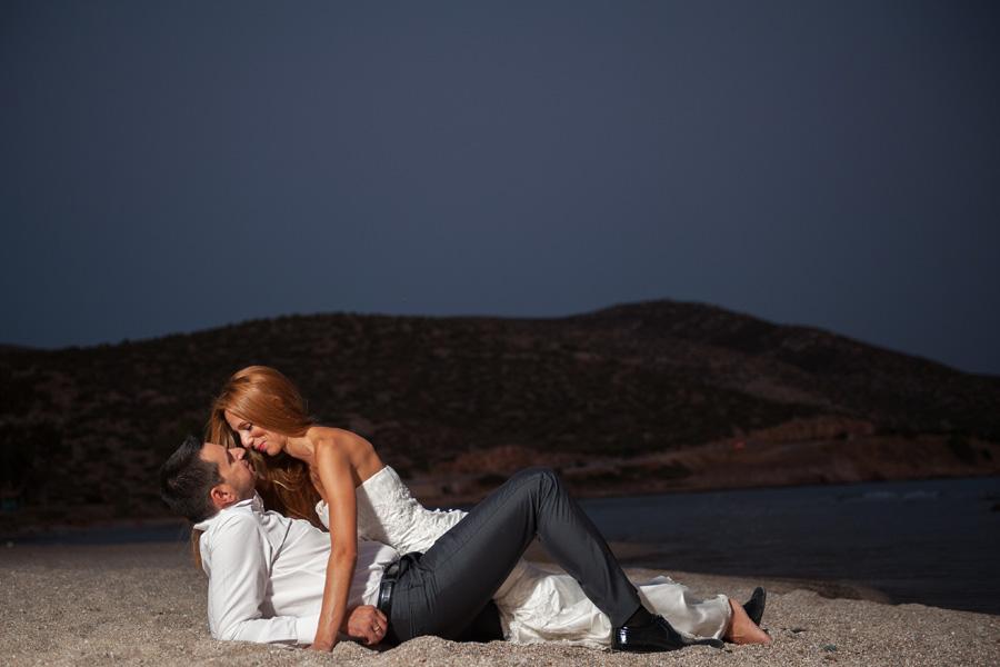 Φωτογράφηση γάμου σε παραλία