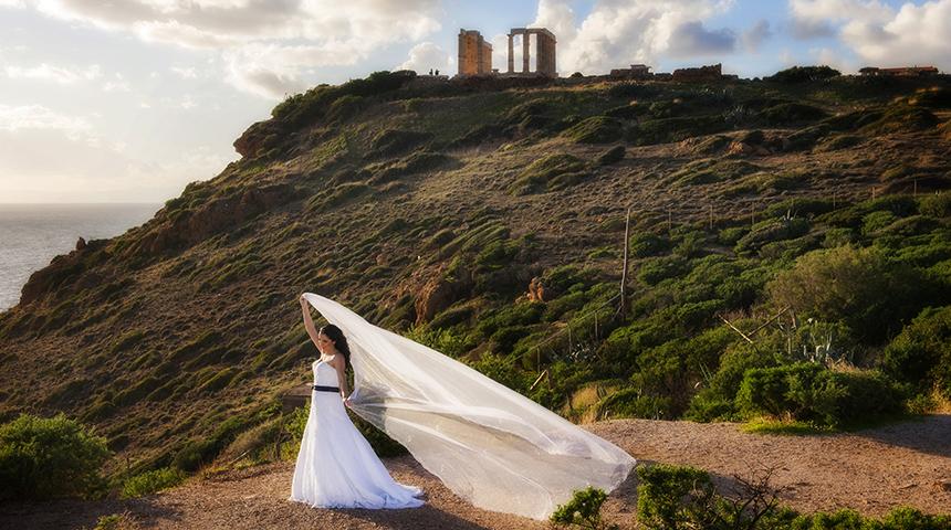 φωτογράφηση γάμου Σούνιο