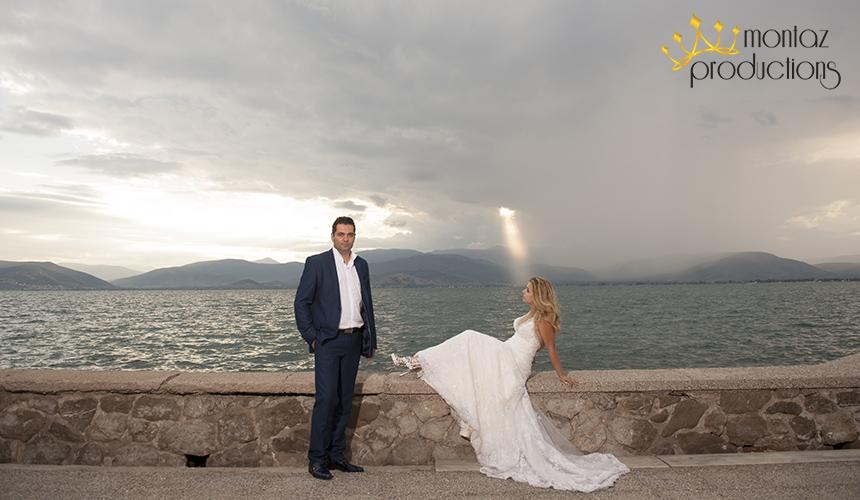 Φωτογράφηση γάμου στη θάλασσα
